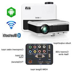 Bluetooth LED Projector Android WIFI Home Theater Full HD Vi