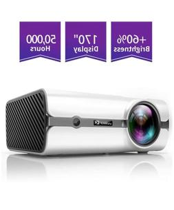 ViviMage C460 Mini Movie Projector, 2500 Lux 1080p Supported