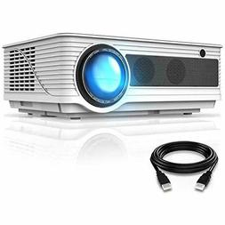 VIVIMAGE C580 4000 Lux Movie Projector, Full HD 1080P Suppor