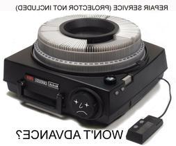 "Kodak Carousel Projector ""ADVANCE"" MAIL-IN Repair Service Di"