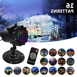 LIFU Christmas Lights Projector - 2018 Upgrade Version 16 Pa
