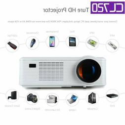 CL720 LED Smart Home Theater Projector HDMI HD 720p Movie Ci