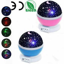 Constellation Night Light Kids 360° Rotate Lamp Moon Star S