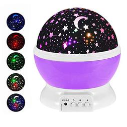 URKEY Constellation Projector Lamp,Kids Night Light 360 De