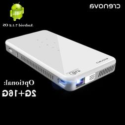 CRENOVA Mini Projector X2 With Android 7.1OS WIFI Bluetooth