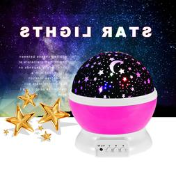 Cute LED Lamp Baby Night Lights Color Changing Rotating Star