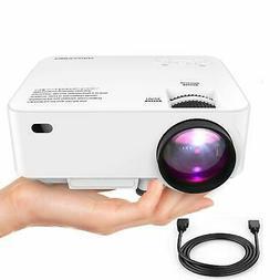 dbpower mini projector 176 display 1080p full
