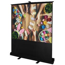 "100"" Diagonal 4:3 Projector Screen Portable Pull up Floor wi"
