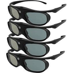 DLP Link 3D Glasses, ELEPHAS 144Hz Rechargeable Active Shutt
