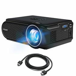 DeepLee DP90 1600 Lumens Mini LED Projector for Phone PC Lap