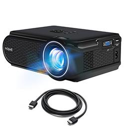 DeepLee DP90  Mini Projector with HDMI Cable for PC Laptop F