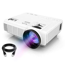 "DR.J Upgrade 4 Inch Mini Projector 170"" Display 40,000 Hours"