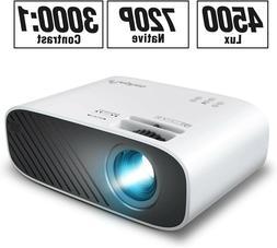 ELEPHAS 2020 Mini Movie Projector, 5000 LUX Full HD 1080P Vi