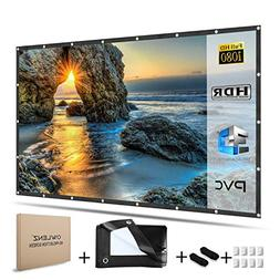 OWLENZ 120 inch Enhanced PVC Material Projector Screen 16:9
