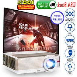 EUG LED LCD 5000Lumens 1080p Video Projector Home Theater Ba