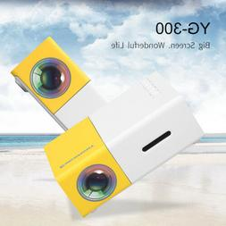 YG300 Home Mini Projector 320 x 240P 1080P AV USB SD Card HD