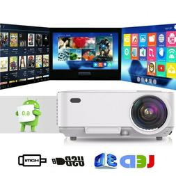 Excelvane T20 Multimedia 4K 1080P Android 3D LED Projector H