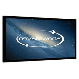 ShowMaven 120 inch Fixed Frame Projector Screen, Diagonal 16