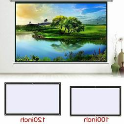 Foldable Movie Screen For Home Office School Projector White