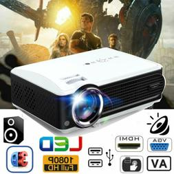 8000Lumens HD 1080P LED Projector Home Theater Multimedia HD