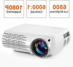 Full HD 1080P 6800 Lumens Home Cinema Movie Video Projector