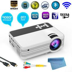 Full HD 1080P LED Home Theater Projector 1+8G+WiFi+Bluetooth