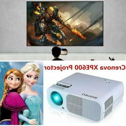 Crenova Full HD 1080P LED Projector Projection HDMI USB VGA