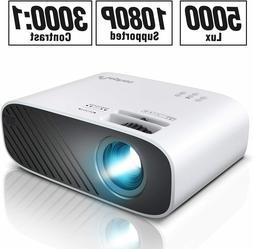 Full HD 1080P 5000 Lumens Portable Mini Home Theater Movie V