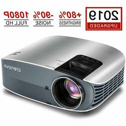 "Crenova Full HD 1080P Video Projector, 2019 Upgraded 200"" Ho"