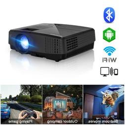 Full HD Video LCD Android WiFi Bluetooth Projector Home Cine