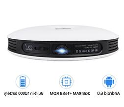 G4 200'' Mini Portable Projector Android 3D DLP HD 4K WiFi B