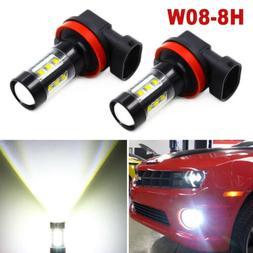 H11 H8 H9 80W LED Fog Light Conversion Bulb Car Driving Lamp