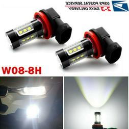 H11 LED Fog Light 80W Conversion H8 H9 Bulb Car Driving Lamp