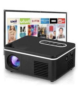 "HD 1080P 60"" WiFi Portable Home Theater Movie Video Projec"