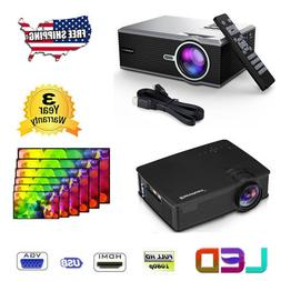 HD 1080P LCD Projector / Screen 5000LM Home Theater Moive SV