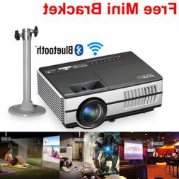 EUG HD 4K Android TV Home Theater Projector 3D 1080P Wifi Bl