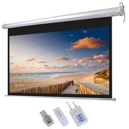 "HD 92"" 16:9 80"" x 45"" Motorized Projector Screen Projection"