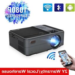 Portable Mini Smart HD Android Projector BT Home Theater 108