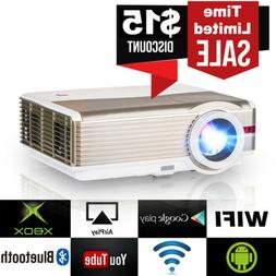 Android WiFi Home Theater HD Projector Bluetooth Backyard Mo
