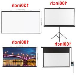 HD Electric Motorized Projector Screen / Portable Projector