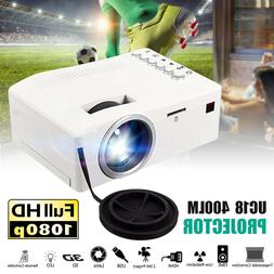 HD Home Theater LED Mini Multimedia Projector Cinema USB HDM