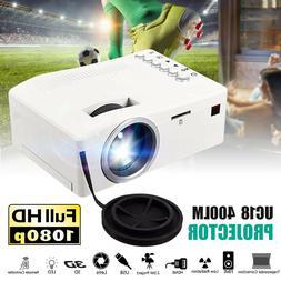 1080P HD Mini Portable LED Projector 3D Home Theater Cinema