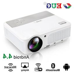 HD LCD Android WIFI Projector Home Theater Bluetooth HDMI US
