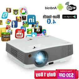 hd portable android smart projector 3600lm bluetooth
