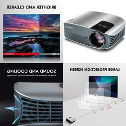 "HD Projector, 2018 Upgraded  Crenova 200"" 1080P Home..."