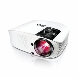 """HD Projector, Artlii 2018 Upgraded Movie Projector 200"""" LED"""