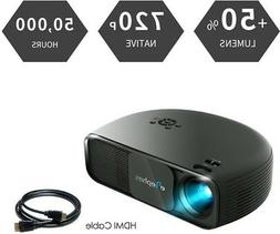 High Brightness LCD Video Projector Support 1080P HD LED Mov