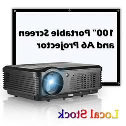 CAIWEI Home Theater Projector HD 1080p Bar Movie Entertainme