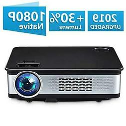Home Theater Projector,HDEYE Native 1080p Full HD LED Video