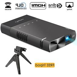 DLP mini projector for iPhone, ELEPHAS 100 Ansi Lumen Pico V